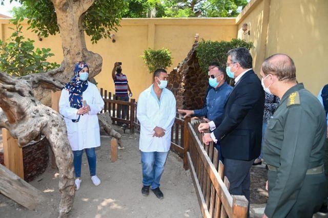 وزير السياحة والآثار يتفقد مشروع تطوير شجرة مريم والمنطقة المحيطة بها بحي المطرية